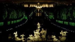 Reggia di Caserta di notte